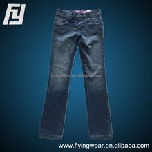 Custom Children Girls Outdoor Cotton Jeans Pants