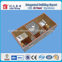 40 feet container house two bedrooms one toliet,kitchen