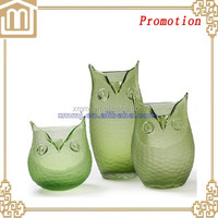 Decorative animal owl shaped lacquer flower vase