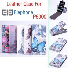 New arrival Elephone P6000 Up and Down Flip cover painted leather case for Elephone P6000 mobile phone protective cases