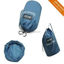 Top quality factory price OEM drawstring polyester shopping bag/promotional gift drawstring bag