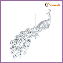 best selling custom silver peacock christmas decorations