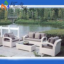 أبيض pe الأثاث في الهواء الطلق fansheng/ محددة لاستخدام الخوص الروطان أريكة الحديقة