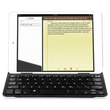 Aluminum Shell Thin and Lightweight Wireless Bluetooth Keyboard for iPad Mini Black Color