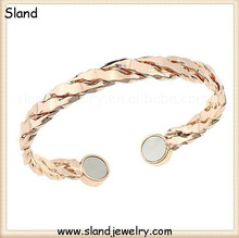 Sland twisted magnetic copper bracelet with therapeutical effects for arthritis pain, best gifts for mothers' day