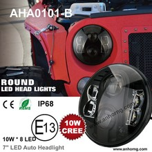 "80W 7 inch 7"" 7inch Mitsubishi Triton l200 Car Super Bright Projector High Power Motorcycle Round Black EMARK LED Headlight"