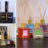 Wholesale square fashion glass air freshener perfume aroma diffuser bottle