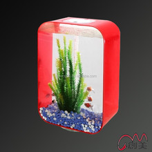 Factory direct sale modern plexiglass acrylic table aquarium fish tank