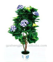 SJ high quality cheap artificial purple hydrangea flower bonsai