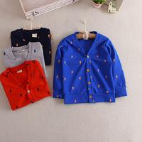 C87940A wholesale fashion children latest cardigan sweaters boy and girl cardigan coats