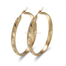 Wholesale Stainless Steel Self Piercing Big Hoop Earrings for Women