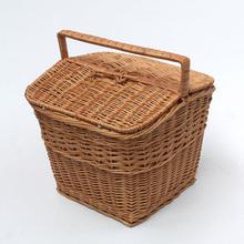 Grande piquenique de vime cesta cesto