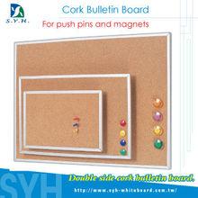 Taiwan office double side decorative magnetic cork bulletin board