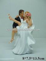 """Over the Threshold"" Cake Topper Figurine wedding cake decoration"