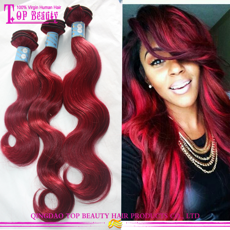 Indian Remy Human Hair Color 99j Hair Weave Red Braiding Hair Buy