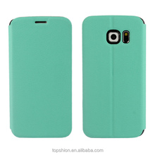 2015 New Arrival Stand Leather Case For Samsung Galaxy S6 Edge, Colorful Case Cover