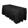 Spun polyester table skirt in a very competitive price