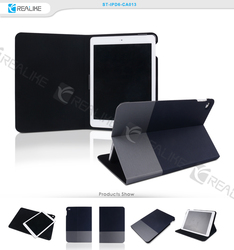 color matching design flip leather case for ipad air 2 with stand function