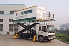 altura do elevador de segurança de aeronaves de catering caminhão