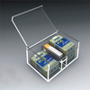 wholesale clear acrylic plastic large compartment storage box
