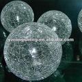 decorativos de vidrio transparente crujido bola