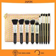 Valentine's gift 10pcs premium synthetic kabuki makeup brush set