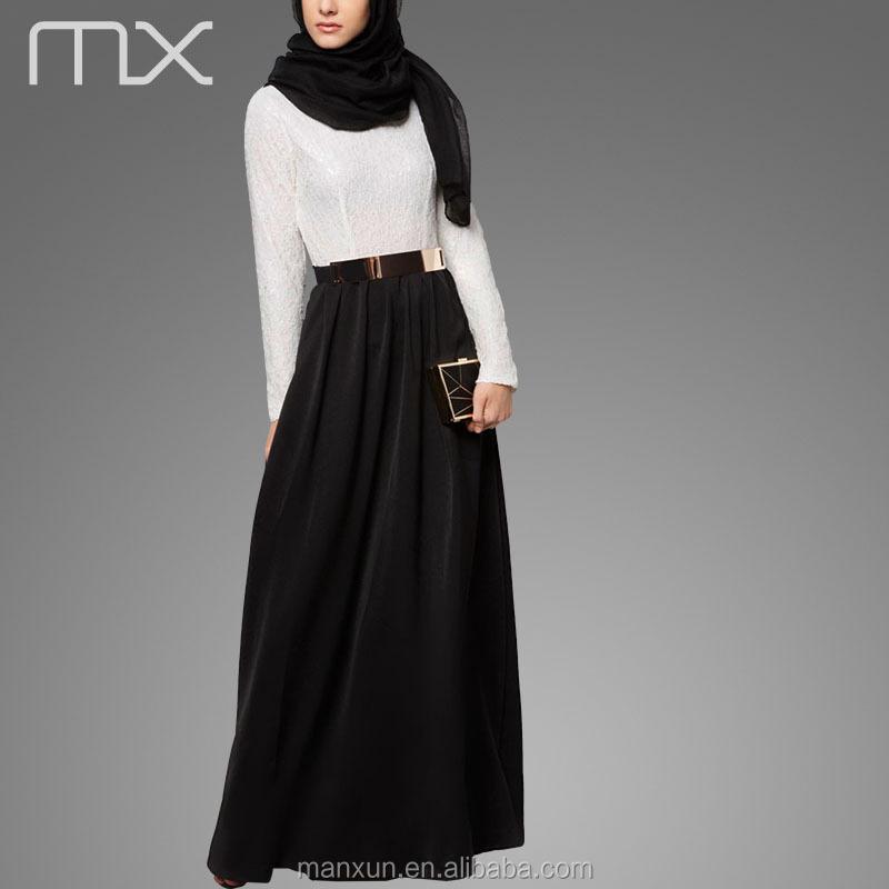Modern Fashion Ladies Abaya Arabic Muslim Long Dress New Model Abaya ...