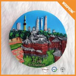 xg18 Made in china fridge sticker ceramic polyresin resin fridge magnet
