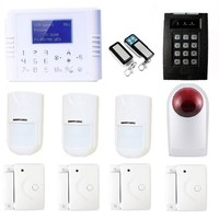 Free shipping Power failure alert CID CMS intelligent wireless commercial security systems made in china
