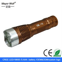 aaa battery super bright aluminum rechargeable t6 tactical led flashlight