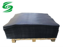 black HDPE plastic slip sheet compact pallet with the push/pull attachment