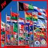 Polyester world flag, country flag, American flag