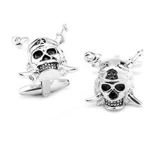 dono gioielli moda pirati dei caraibi designer metallo teschio personalizzati gemelli da uomo