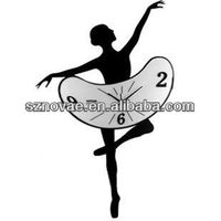 SH-05 Dancing Girl Quartz Plastic Art Wall Clock