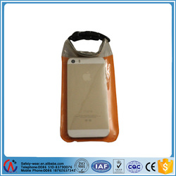 3 sizes PVC/Nylon portable outdoor transparent Waterproof mobile/cell phone/camera bag/case