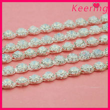 fashion new arrival wholesale clear crystal larger opal stone center close rhinestone cup chain WRC-250