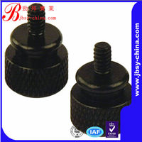 black anodized aluminum thumb screw with shoulder china supplier