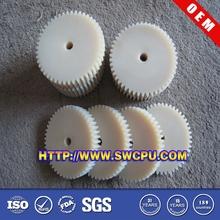 Custom cnc plastic worm geared part