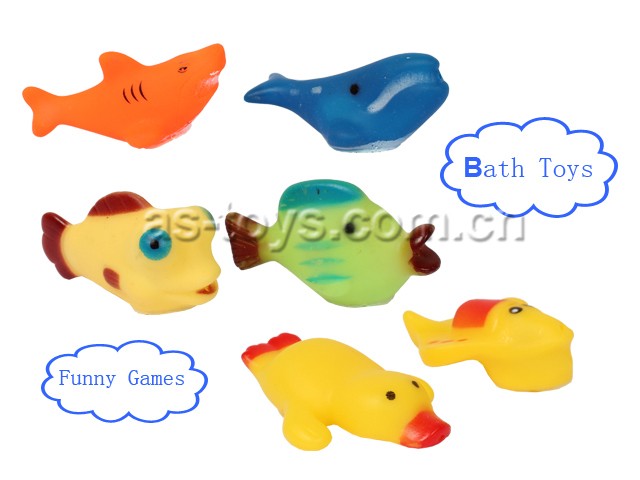 Funny bath game rubber fish toys for Rubber fish toy