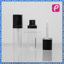 Black cap square empty lip gloss container tube