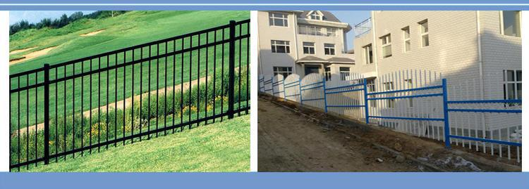 Black powder coating used aluminum fence / fencing