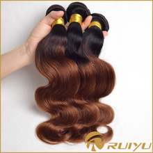 Soft and Smooth ombre straight two tone color hair extensions