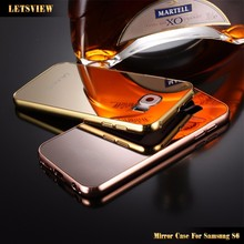 LETSVIEW Luxury Bling Mirror Case Skin Cover for Samsung S6 A5 iPhone 6 6 plus