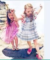 C65231A short sleeve princess tassels dress for kids