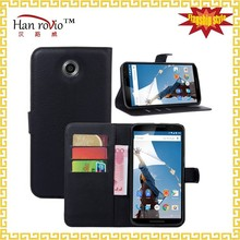 For Motorola Nexus 6 leather flip case, 9 colors book style phone cases