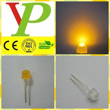 Colloidal yellow, water clear f5 yellow straw hat led