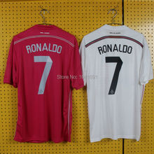 2014 2015 real madrid soccer jersey home and away football shirt kits thailand quality soccer jersey real madrid 14 15