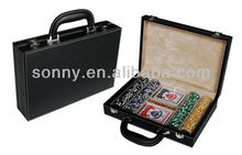 200 piece customise tournament poker chip set with carry handle