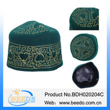 Classical embroidery wool felt muslim hat with a variety of color