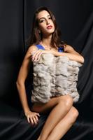 YR176 Head fur scrap Blue Fox fur christmas pillow cover